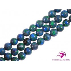 PERLES AZURITE MALACHITE 6 mm