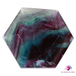 Hexagone en Fluorine multicolore de Chine