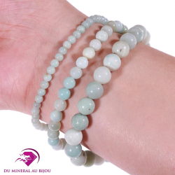 Bracelet en Amazonite, pierre de la tendresse