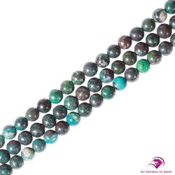 10 Perles rondes Chrysocolle 6mm