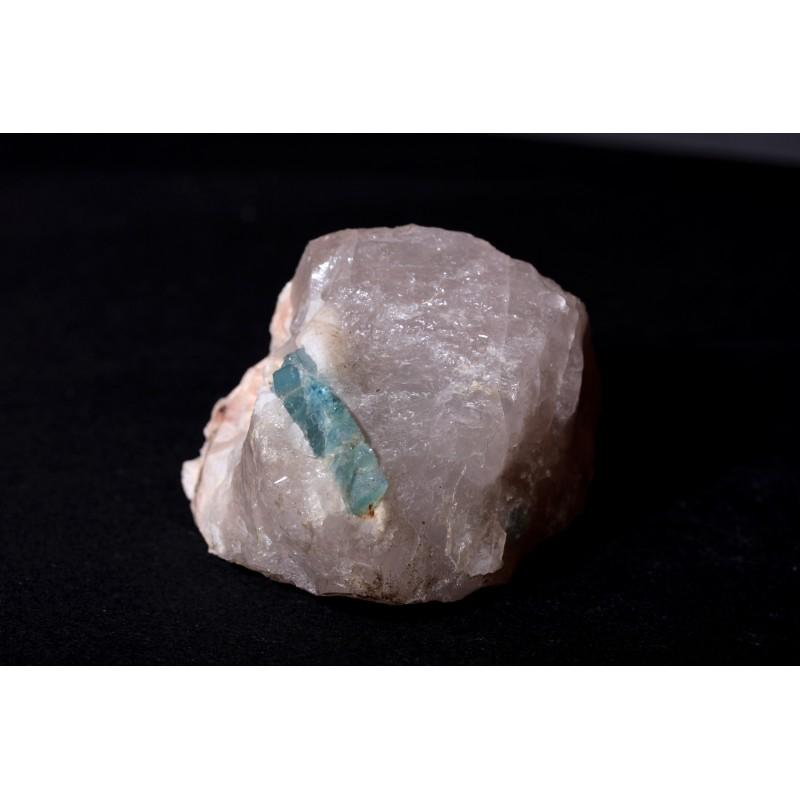 Aigue marine sur gangue de quartz