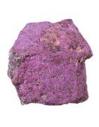 Purpurite. Sélection de minéraux et pierres brutes